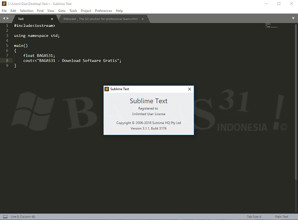 Sublime Text 3.1.1 Build 3176 Full Version