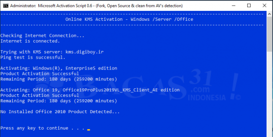 Microsoft Activation Script 0.6 Stable