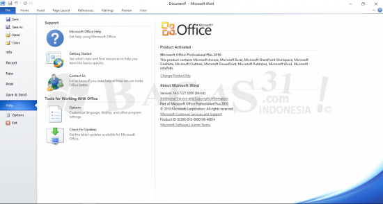 Microsoft Office 2010 Professional Plus Update Januari 2019