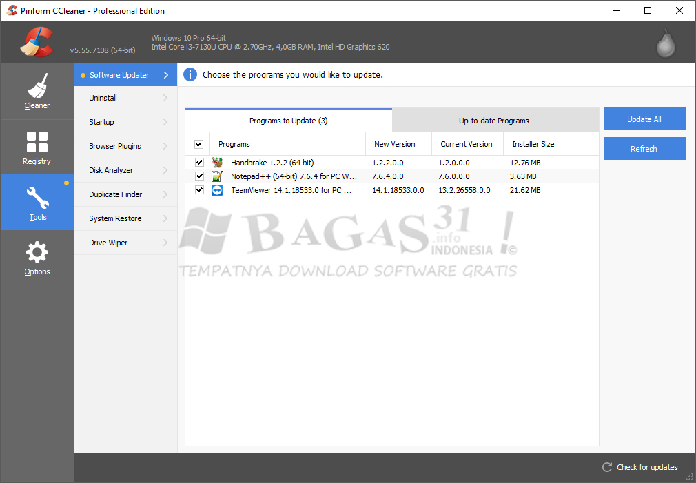 CCleaner 5.55 Full Version