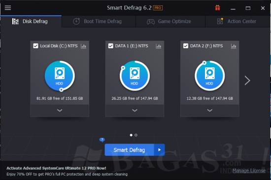 IObit Smart Defrag Pro 6.2 Full Version