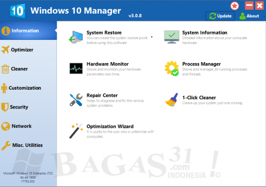 Windows 10 Manager 3.0.8 Full Version