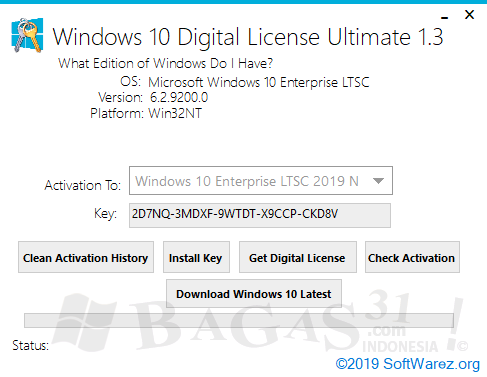 Windows 10 Digital License Ultimate 1.3