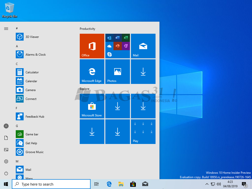 Windows 10 Insider Preview 20H1 Agustus 2019 6