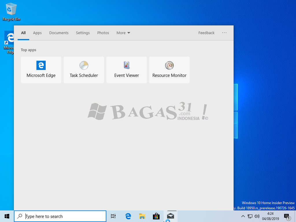 Windows 10 Insider Preview 20H1 Agustus 2019 7