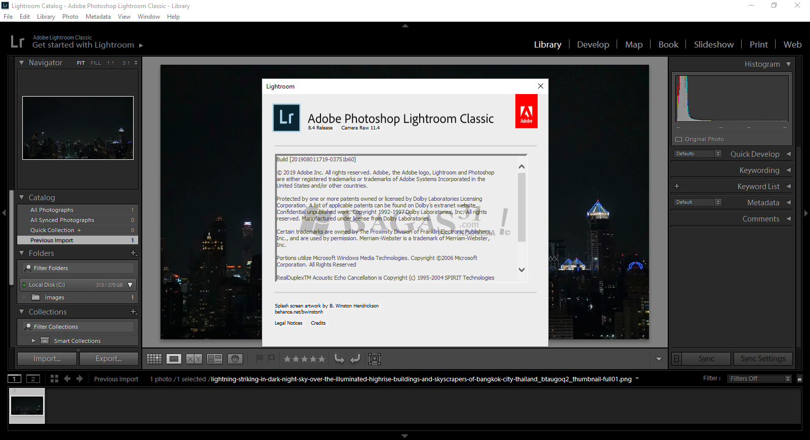 Adobe Photoshop Lightroom Classic CC 2019 8.4.0.10 Full Version