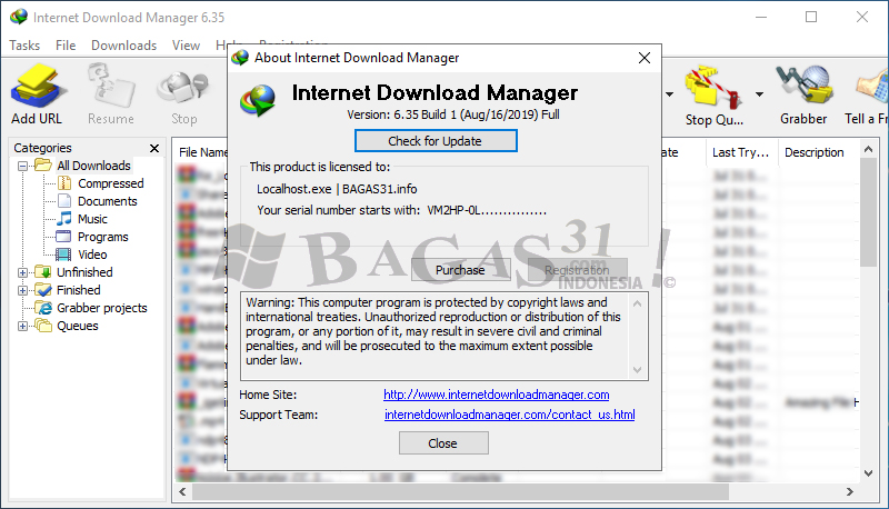 Internet Download Manager 6.35 Build 1 Full Version 3