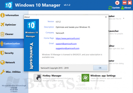 Windows 10 Manager 3.1.2 Full Version