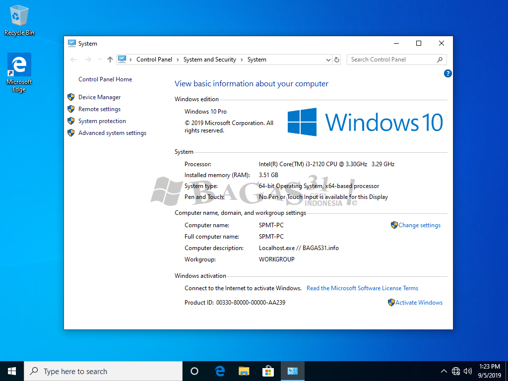 Windows 10 Pro 19H1 Super Slim