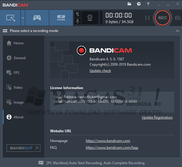 Bandicam 4.5.0.1587 Full Version