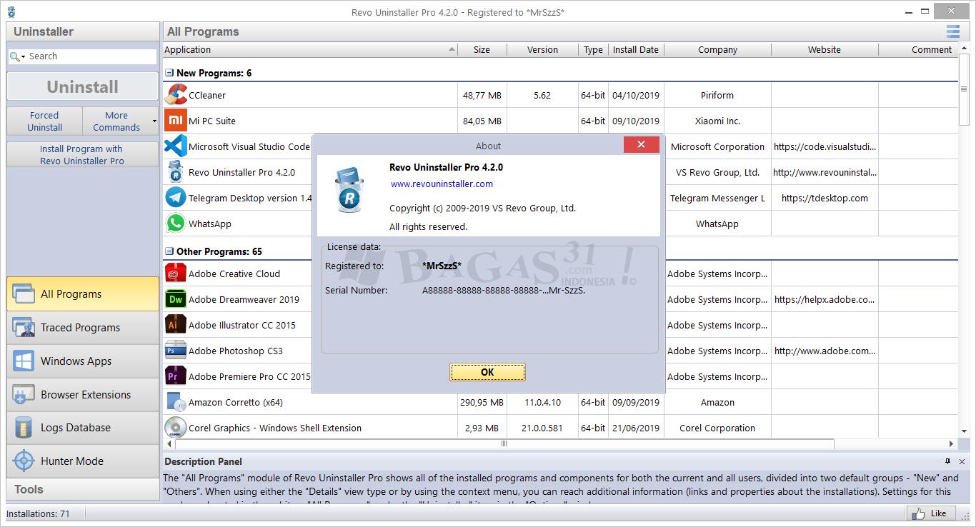 Revo Uninstaller Pro 4.2.0 Full Version