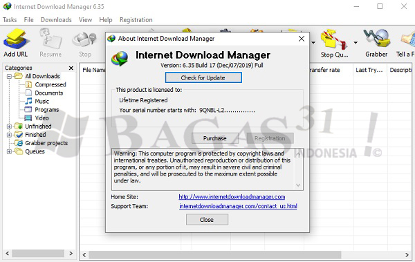 Internet Download Manager 6.35 Build 17 Full Version