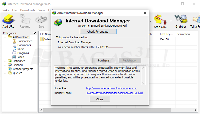 Internet Download Manager 6.35 Build 15 Full Version