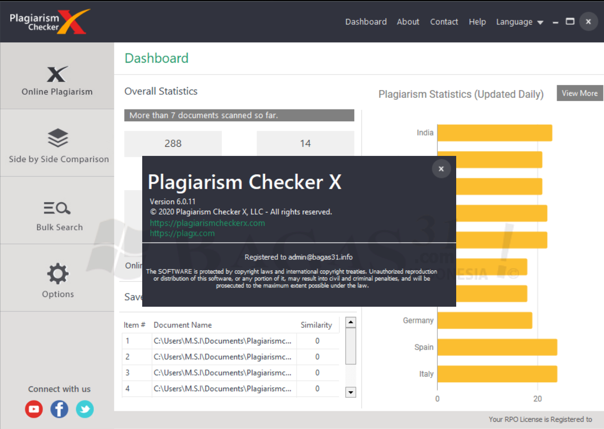 Plagiarism Checker X 6.0.11 Pro Full Version