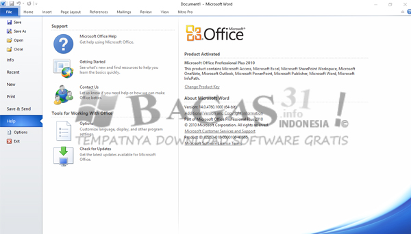 Microsoft Office 2010 Januari 2020
