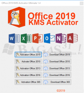 Office 2019 KMS Activator Ultimate 1.4 2