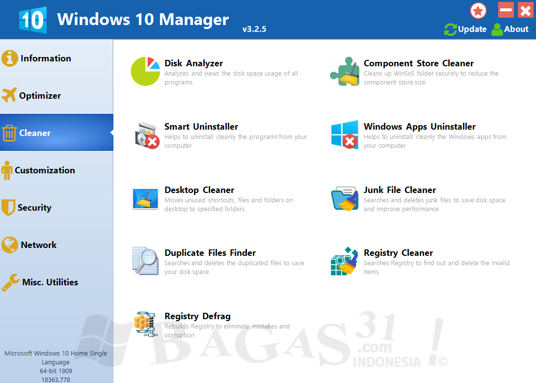 Windows 10 Manager 3.2.5 Full Version
