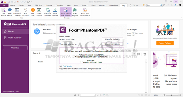 Foxit PhantomPDF Business 10.0.0.35798