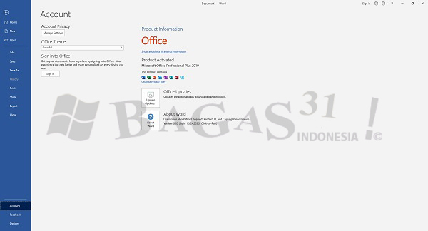 Microsoft Office 2019 Pro Plus v2005 Build 12827.20268 Mei 2020