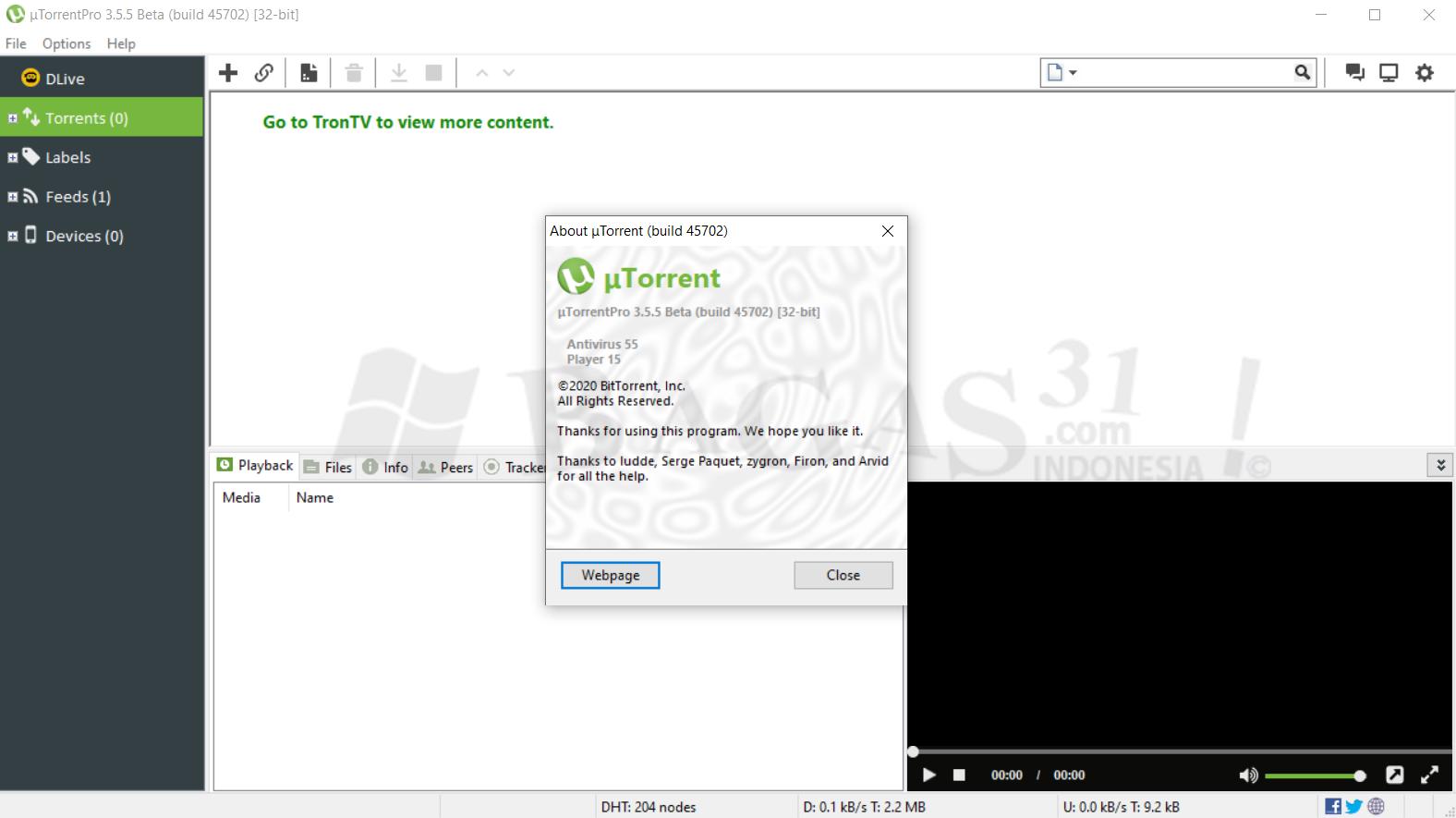 uTorrent Pro 3.5.5 Build 45702 Beta Full Crack