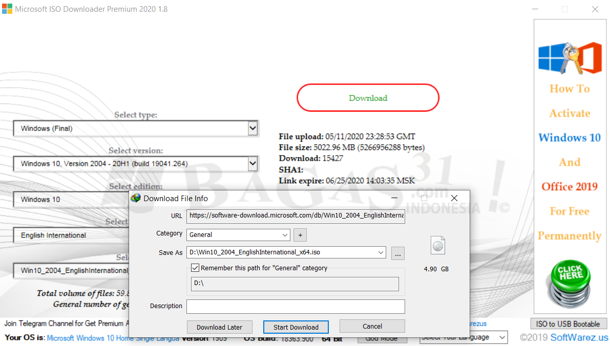 Microsoft ISO Downloader 1.8