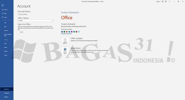 Microsoft Office 2019 Pro Plus v2007 Build 13012.20000 Juni 2020