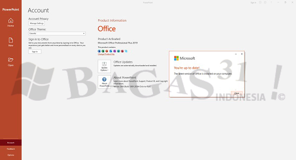 Microsoft Office 2019 Pro Plus v2007 Build 13029.20344 Agustus 2020