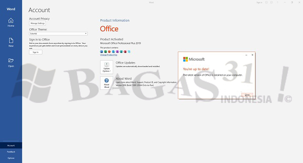 Microsoft Office 2019 Pro Plus v2008 Build 13127.20164 Agustus 2020