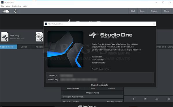 Studio One Professional 5.0.1 Full Version