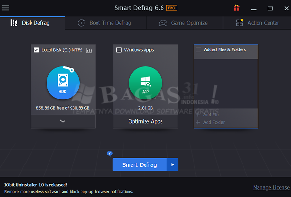 IObit Smart Defrag Pro 6.6.5.16 Full Version 2