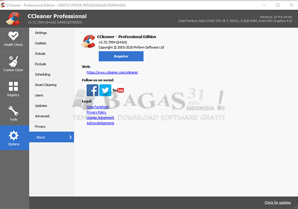 CCleaner Professional 5.72 Full Version 2