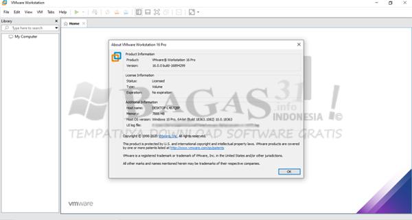VMware Workstation Pro 16.0