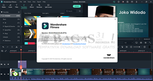 Wondershare Filmora X 10.0.0.91 Full Version