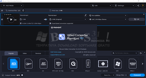Movavi Video Converter 21.1.0 Full Version