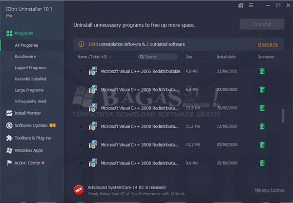 IObit Uninstaller Pro 10.1.0.21 Full Version