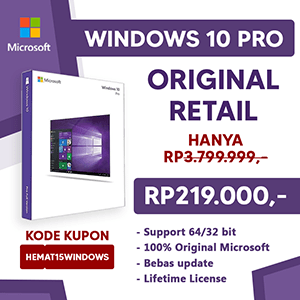 Windows 10 Hanya 219rb