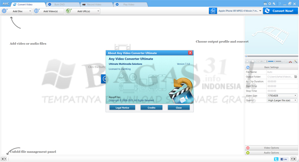 Any Video Converter Ultimate 7.1