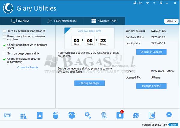 Glary Utilities Pro 5.163.0.189 Full Version