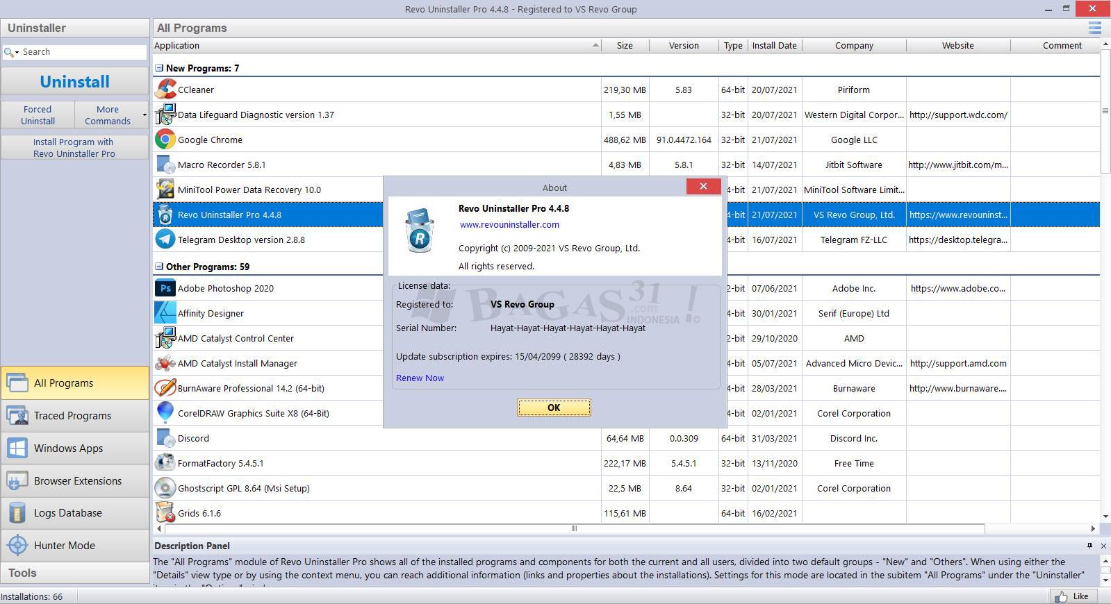 Revo Uninstaller Pro 4.4.8 Full Version