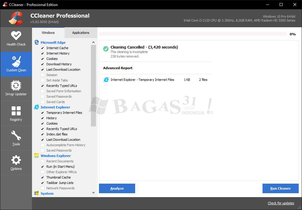 CCleaner 5.83 Full Patch